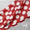 748252 puntík 6cm bílý na červené LÁTKA