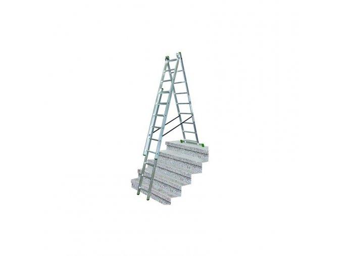 zebrik multifunkcni hlinikovy 3x7 s upravou na schody proteco