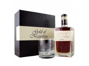 gold of mauritius dark rum box se sklenkou 07 l