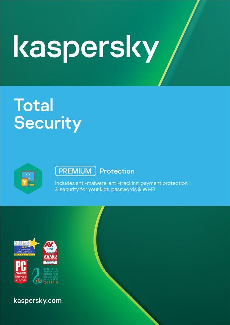 Kaspersky Total Security Počet zařízení: 3, Předplatné: 1 ROK