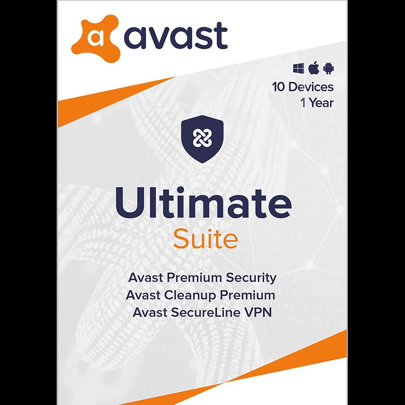 AVAST Ultimate Počet zařízení: 10, Předplatné: 1 ROK