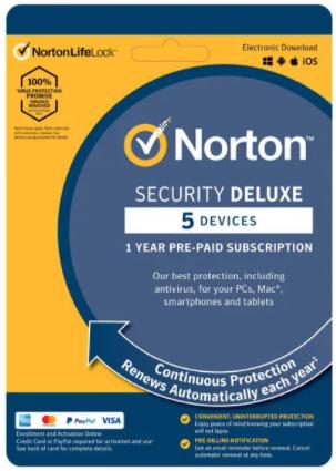 Norton Security Deluxe 5 zařízení 1 rok