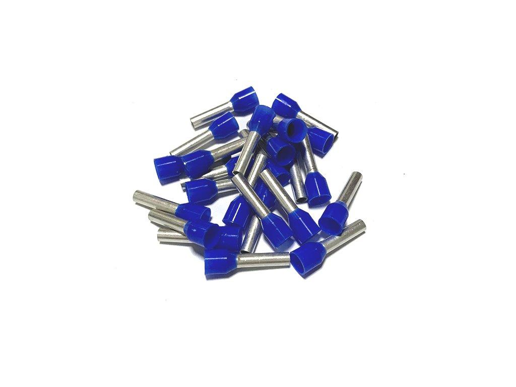 Dutinka izolovaná, průřez 2,5mm2 / délka 8mm, modrá
