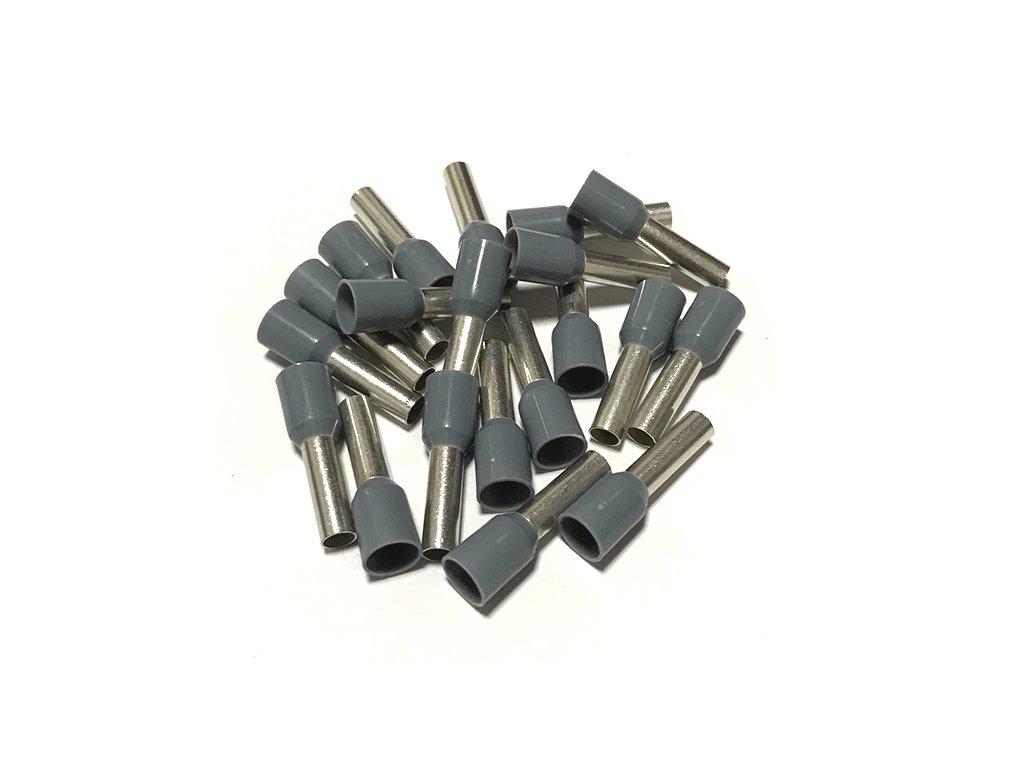 Dutinka izolovaná, průřez 4,0mm2 / délka 12mm, šedá