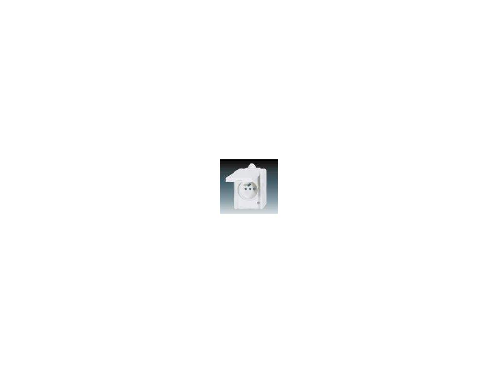 Zásuvka jednonásobná - bílá 5518-2929 B
