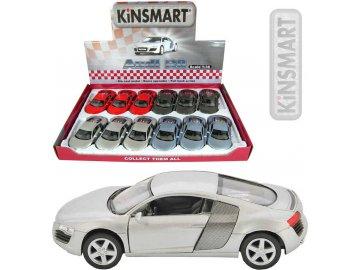 KINSMART Auto model 1:36 Audi R8 kov PB 13cm 4 barvy
