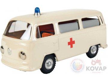 KOVAP Auto plechové VW Volkswagen sanitka retro model 1:43 Kov 0613