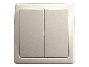 Přepínač sériový komplet - jasně bílá 3557G-C05340 B1