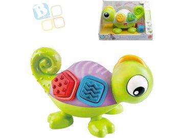 B-KIDS Baby chameleon senzorický set s kostkami mění barvy na baterie LED Světlo