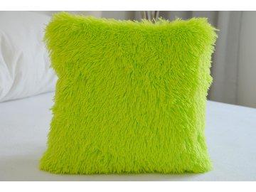 Chlupatý povlak na polštář 40x40 - Peluto zelený
