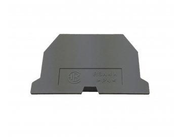 Přepážka K RSA 4 A ŠE šedá, koncová - B631211