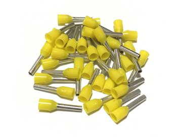 Dutinka izolovaná, průřez 1,0mm2 / délka 8mm, žlutá