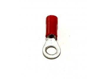 Oko izolované, průřez 0,5-1,5mm2 / M4 / šíře 8mm, izolace PVC