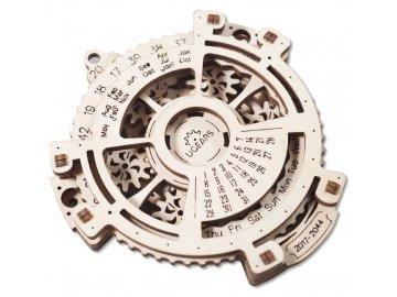 Ugears 3D dřevěné mechanické puzzle Kalendář