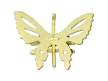 Woodcraft Dřevěné 3D puzzle mini skládačka motýl