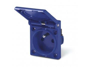 Zásuvka vestavná domovní - 2P+E, 16A, 250 V, IP54 - 50x61mm