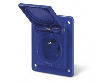 Zásuvka vestavná domovní - 2P+E, 16A, 250 V, IP54 - 70x86mm