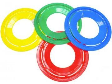 Hra disk házecí 23cm frisbee 4 barvy plast
