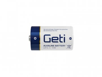 Baterie C (LR14) alkalická Geti