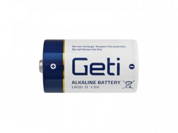 Baterie D (LR20) alkalická Geti