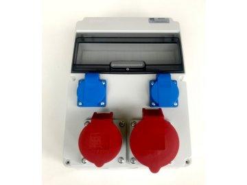 Stavební rozvaděč AEP RSJ-0112, 1x32A 5P, 1x16A 5P, 2x 230V