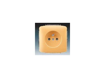Zásuvka jednonásobná - béžová 5518A-A2349 D