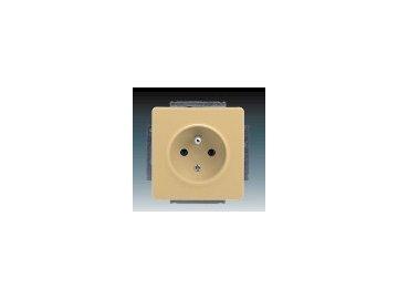 Zásuvka jednonásobná - béžová 5518G-A02349 D1