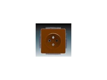 Zásuvka jednonásobná - hnědá 5518G-A02349 H1