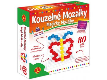 ALEXANDER Mozaiky magické set 80 kloboučků s předlohami měkké hříbečky