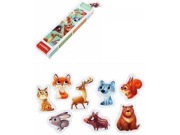 PUZZLIKA Baby puzzle skládačka Lesní zvířátka 8x 2 dílky pro miminka
