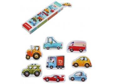 PUZZLIKA Baby puzzle skládačka Dopravní prostředky 8x 2 dílky pro miminka