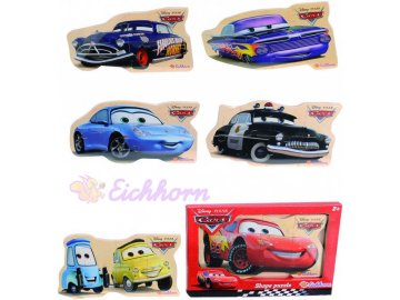 EICHHORN Disney CARS (Auta) Puzzle dřevěná skládačka 6 druhů