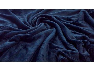 Mikroplyšová deka - Tmavě modrá