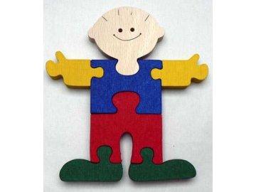 Makovský Dřevěné vkládací puzzle Kluk bez rámečku