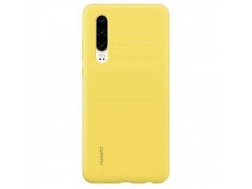 Huawei silikonový ochranný kryt žlutý na Huawei P30