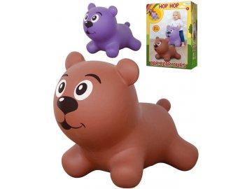 JOHN Baby hopsadlo Medvídek nafukovací zvířátko skákací 2 barvy v krabici