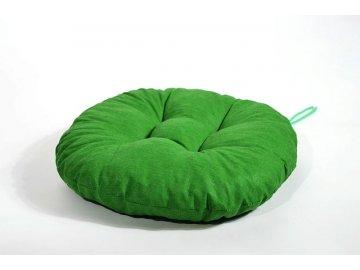 Sedák na židli kulatý - Zelený