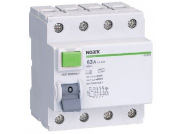 Proudový chránič Noark Ex9L-H 4P 25A 30mA 108175 (původně 100652)