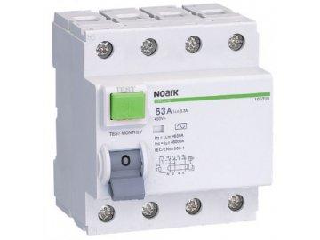 Proudový chránič Noark Ex9L-H 4P 40A 30mA 108176 (původně 100655)