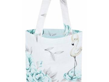 Bavlněná taška Baby Nellys Maxi pro mámy - Plameňák - mátový