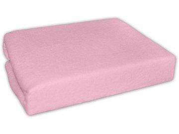 Baby Nellys Froté prostěradlo do kočárku 75 x 35 - růžové