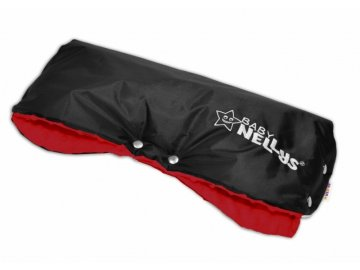 Rukávník ke kočárku Baby Nellys ® minky - červená/černý
