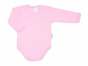 G-baby Dětské body dlouhý rukáv - světle růžová