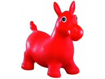 Tulimi Skákací gumové zvířátko - Koník, červené