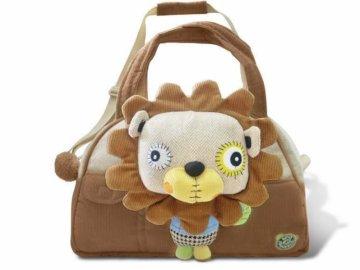 EcoSnoopers Stylová dětská taška Lev - hnědá
