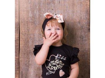 G-Baby Čelenka s mašlí Kiss - smetanová