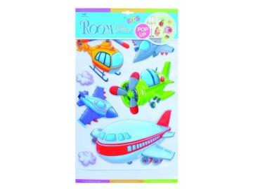 Room Dětské samolepky na zeď POP UP - letadla