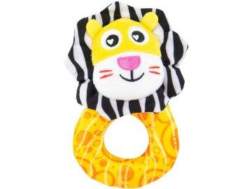 LAMAZE Baby chrastítko lvíček textilní pro miminko