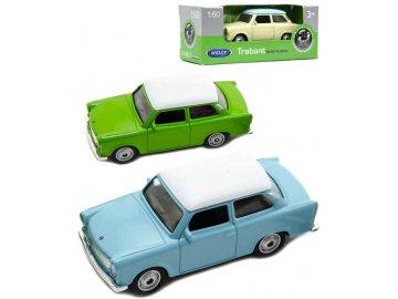 WELLY Auto retro model Trabant 7cm volný chod 1:60 kov 3 barvy