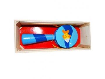 HJ Toys Dřevěný bubínek s rukojetí